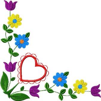 Gallery For Simple Flower Corner Designs
